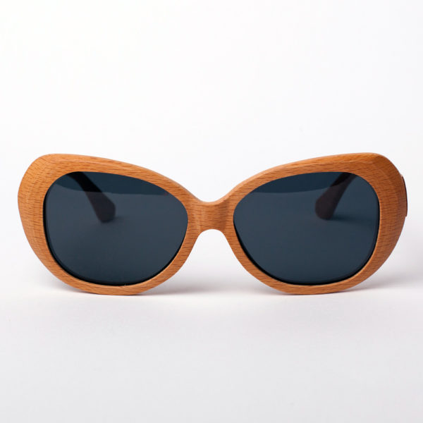 Caroline Lips Grey Samoa Sun gafas de madera