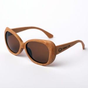 Gafas de sol madera polarizadas Caroline Lips Brown Samoa Sun