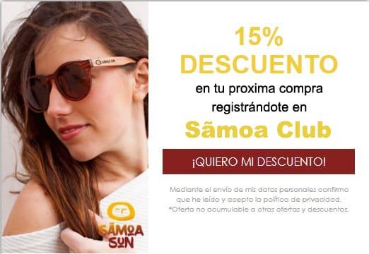 Samoa club descuento 15%