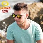 Samoa Sun Gafas sol madera verano Maui Beach Golden Mirror