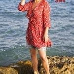 Samoa Sun Caroline Lips Gafas sol madera moda estilo