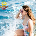 Samoa Sun Gafas madera Pacific Pink mar playa