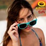 Samoa Sun gafas sol madera Pacific verde turquesa