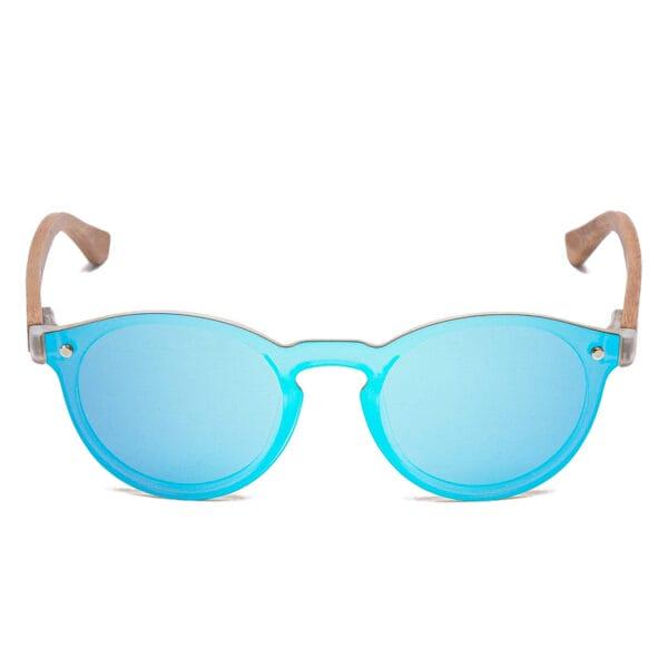 Samoa Sun | Gafas de sol de madera Kauai Blue Mirror