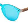 Kauai Blue Mirror Samoa Sun gafas de madera