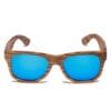 Samoa Sun | Gafas de sol de madera Waikiki Blue Mirror
