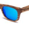 Waikiki Blue Mirror Samoa Sun gafas de madera