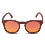 Samoa Sun | Gafas de sol de madera Jarvis Golden Mirror