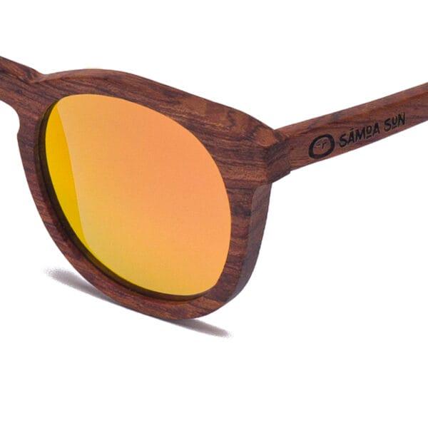 Jarvis Golden Mirror Samoa Sun gafas de madera