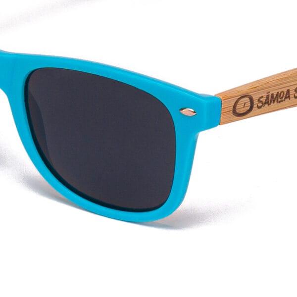 Pacific Blue Samoa Sun gafas de madera