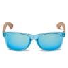 Samoa Sun   Gafas de madera Pacific Crystal Blue Mirror