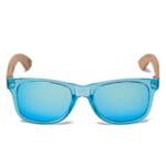 Samoa Sun | Gafas de madera Pacific Crystal Blue Mirror