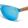 Pacific Crystal Blue Mirror Samoa Sun gafas de madera