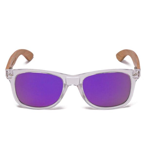 Samoa Sun | Gafas de sol de madera Pacific Crystal Purple Dreams