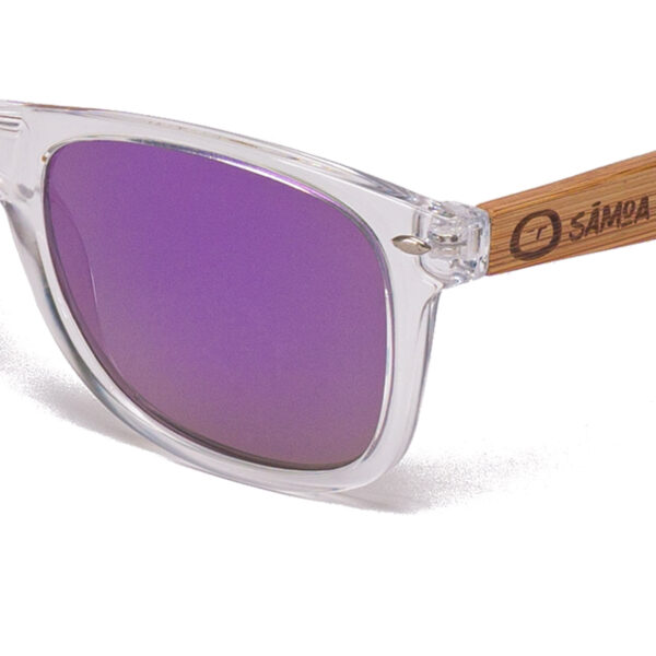Pacific Crystal Purple Dreams Samoa Sun gafas de madera