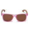 Samoa Sun | Gafas de sol de madera Pacific Crystal Pink Lover
