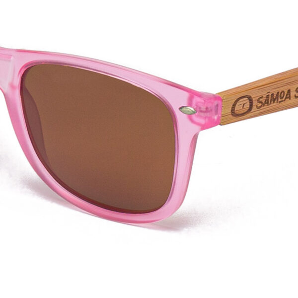 Pacific Crystal Pink Lover Samoa Sun gafas de madera