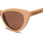 New Caledonia Brown Samoa Sun gafas de madera