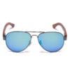 Samoa Sun | Gafas de sol de madera Ellice Blue Mirror