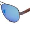 Ellice Blue Mirror Samoa Sun gafas de madera