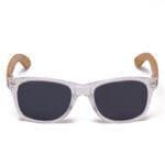 Samoa Sun | Gafas de sol de madera Pacific Crystal Grey White