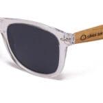 Pacific Crystal Grey White Samoa Sun gafas de madera