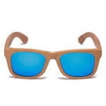Samoa Sun | Gafas de sol de madera New Zealand Blue Mirror