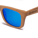 New Zealand Blue Mirror Samoa Sun gafas de madera