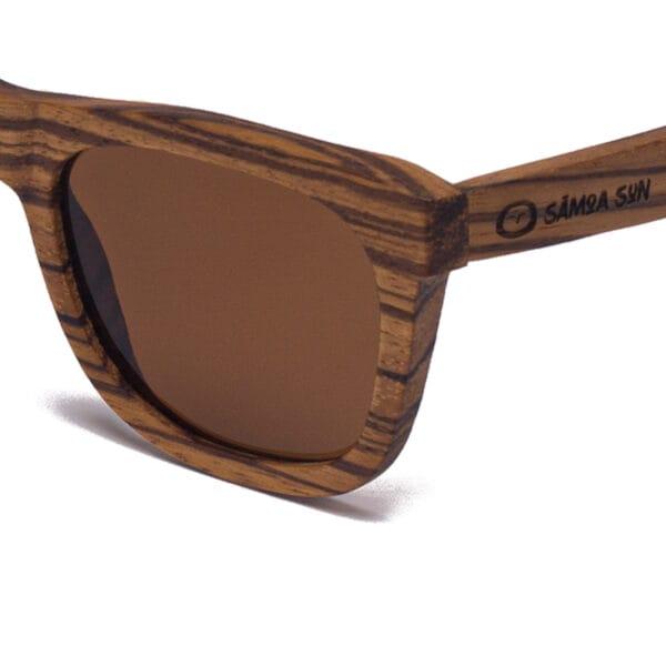 Waikiki Brown Samoa Sun gafas de madera