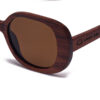 Sidney Square Brown Samoa Sun gafas de madera