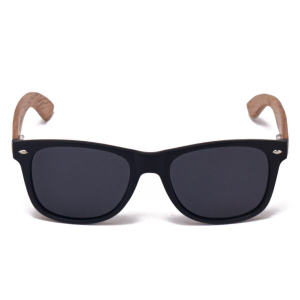 Samoa Sun | Gafas de sol de madera Maui Beach Black
