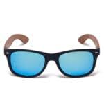 Samoa Sun | Gafas de sol de madera Maui Beach Blue Mirror