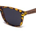 Papua New Black Samoa Sun gafas de madera