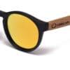 Fiyi Beach Golden Mirror Samoa Sun gafas de madera