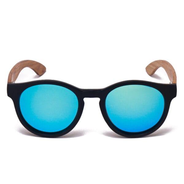 Samoa Sun  Gafas de sol de madera Fiyi Beach Blue Mirror