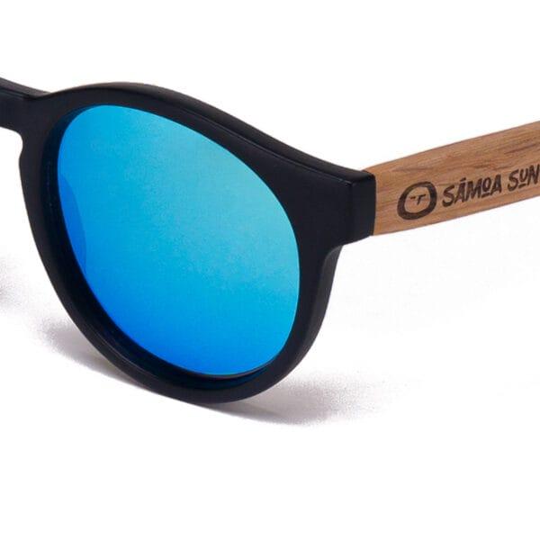 Fiyi Beach Blue Mirror Samoa Sun gafas de madera
