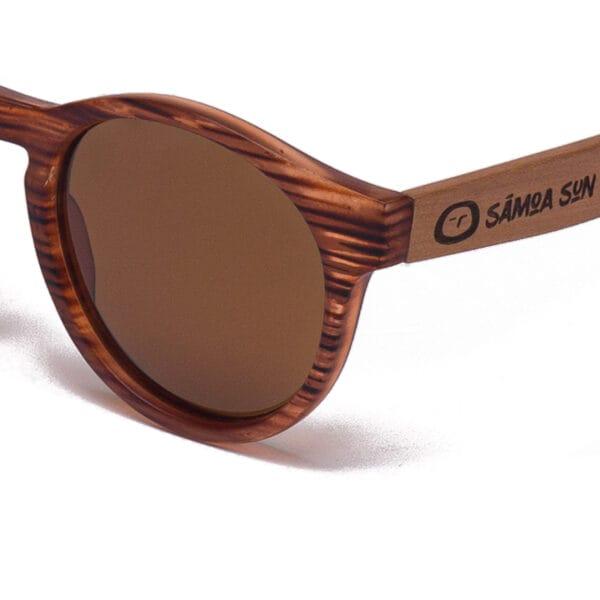 Bora Bora Brown Samoa Sun gafas de madera